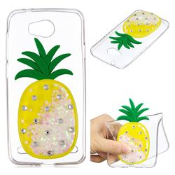 White Pineapple Liquid Quicksand Soft 3D Cartoon Case for Huawei Y3II Y3 2 Honor Bee 2