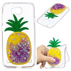 Purple Pineapple Liquid Quicksand Soft 3D Cartoon Case for Huawei Y3II Y3 2 Honor Bee 2