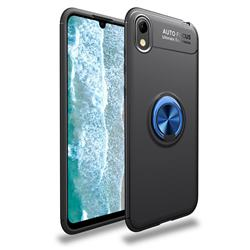 Auto Focus Invisible Ring Holder Soft Phone Case for Huawei Y5 (2019) - Black Blue