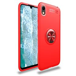 Auto Focus Invisible Ring Holder Soft Phone Case for Huawei Y5 (2019) - Red