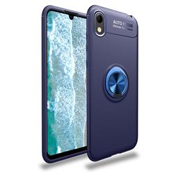 Auto Focus Invisible Ring Holder Soft Phone Case for Huawei Y5 (2019) - Blue