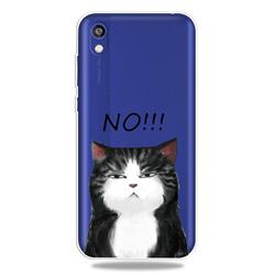 Cat Say No Clear Varnish Soft Phone Back Cover for Huawei Y5 (2019)