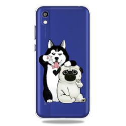 Selfie Dog Clear Varnish Soft Phone Back Cover for Huawei Y5 (2019)