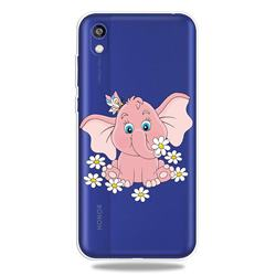 Tiny Pink Elephant Clear Varnish Soft Phone Back Cover for Huawei Y5 (2019)