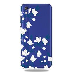 Magnolia Flower Clear Varnish Soft Phone Back Cover for Huawei Y5 (2019)