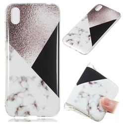 Black white Grey Soft TPU Marble Pattern Phone Case for Huawei Y5 (2019)