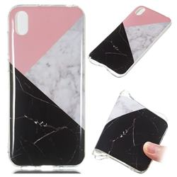 Tricolor Soft TPU Marble Pattern Case for Huawei Y5 (2019)