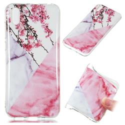 Pink Plum Soft TPU Marble Pattern Case for Huawei Y5 (2019)