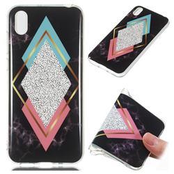 Black Diamond Soft TPU Marble Pattern Phone Case for Huawei Y5 (2019)