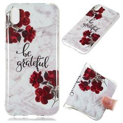 Rose Soft TPU Marble Pattern Phone Case for Huawei Y5 (2019)