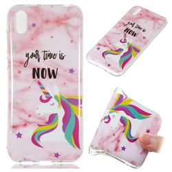 Unicorn Soft TPU Marble Pattern Phone Case for Huawei Y5 (2019)