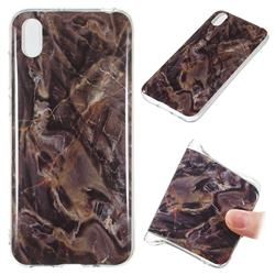 Brown Soft TPU Marble Pattern Phone Case for Huawei Y5 (2019)
