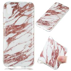 Rose Gold Grain Soft TPU Marble Pattern Phone Case for Huawei Y5 (2019)