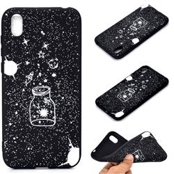 Travel The Universe Chalk Drawing Matte Black TPU Phone Cover for Huawei Y5 (2019)