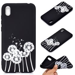 Dandelion Chalk Drawing Matte Black TPU Phone Cover for Huawei Y5 (2019)