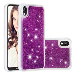 Dynamic Liquid Glitter Quicksand Sequins TPU Phone Case for Huawei Y5 (2019) - Purple