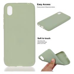 Soft Matte Silicone Phone Cover for Huawei Y5 (2019) - Bean Green