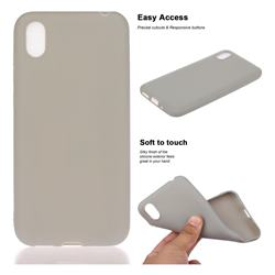 Soft Matte Silicone Phone Cover for Huawei Y5 (2019) - Gray