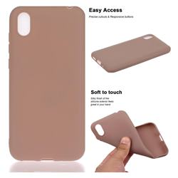 Soft Matte Silicone Phone Cover for Huawei Y5 (2019) - Khaki