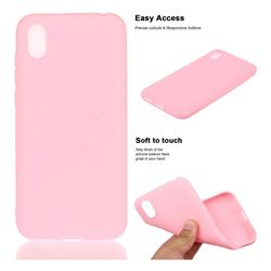 Soft Matte Silicone Phone Cover for Huawei Y5 (2019) - Rose Red
