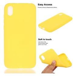 Soft Matte Silicone Phone Cover for Huawei Y5 (2019) - Yellow
