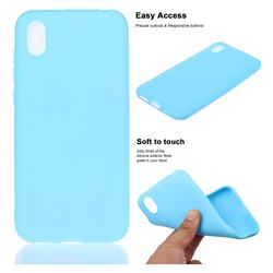 Soft Matte Silicone Phone Cover for Huawei Y5 (2019) - Sky Blue