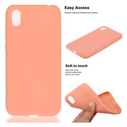 Soft Matte Silicone Phone Cover for Huawei Y5 (2019) - Coral Orange