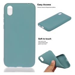 Soft Matte Silicone Phone Cover for Huawei Y5 (2019) - Lake Blue