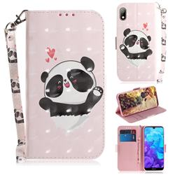 Heart Cat 3D Painted Leather Wallet Phone Case for Huawei Y5 (2019)