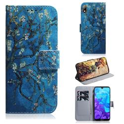 Apricot Tree PU Leather Wallet Case for Huawei Y5 (2019)
