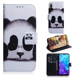 Sleeping Panda PU Leather Wallet Case for Huawei Y5 (2019)