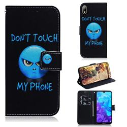 Not Touch My Phone PU Leather Wallet Case for Huawei Y5 (2019)