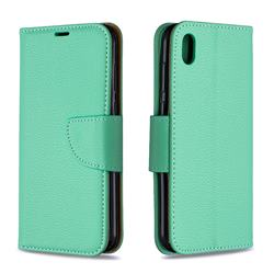 Classic Luxury Litchi Leather Phone Wallet Case for Huawei Y5 (2019) - Green