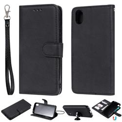 Retro Greek Detachable Magnetic PU Leather Wallet Phone Case for Huawei Y5 (2019) - Black