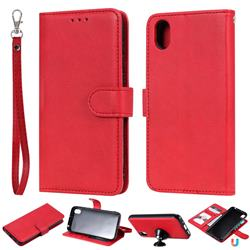 Retro Greek Detachable Magnetic PU Leather Wallet Phone Case for Huawei Y5 (2019) - Red