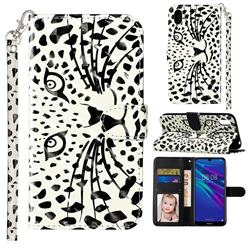 Leopard Panther 3D Leather Phone Holster Wallet Case for Huawei Y5 (2019)