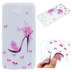 Petal High Heels Super Clear Soft TPU Back Cover for Huawei Y5 (2017)