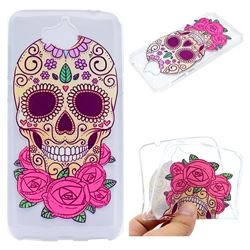 Skeleton Flower Super Clear Soft TPU Back Cover for Huawei Y5 (2017)
