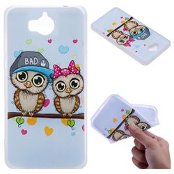 Couple Owls 3D Relief Matte Soft TPU Back Cover for Huawei Y5 (2017)