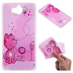 Cat and Bee 3D Relief Matte Soft TPU Back Cover for Huawei Y5 (2017)