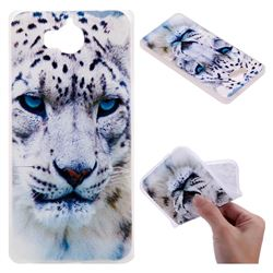 White Leopard 3D Relief Matte Soft TPU Back Cover for Huawei Y5 (2017)