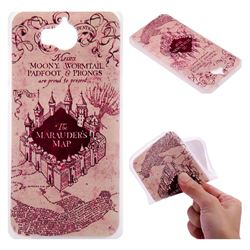 Castle The Marauders Map 3D Relief Matte Soft TPU Back Cover for Huawei Y5 (2017)