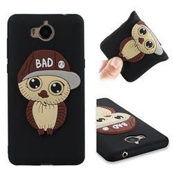 Bad Boy Owl Soft 3D Silicone Case for Huawei Y5 (2017) - Black