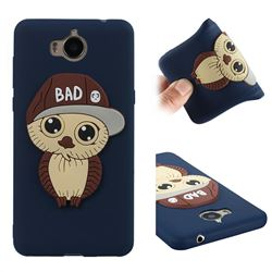 Bad Boy Owl Soft 3D Silicone Case for Huawei Y5 (2017) - Navy