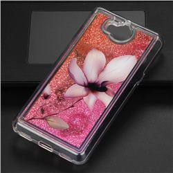 Lotus Glassy Glitter Quicksand Dynamic Liquid Soft Phone Case for Huawei Y5 (2017)