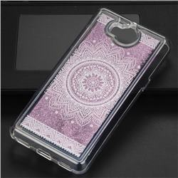 Mandala Glassy Glitter Quicksand Dynamic Liquid Soft Phone Case for Huawei Y5 (2017)