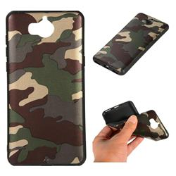 Camouflage Soft TPU Back Cover for Huawei Y5 (2017) - Gold Green