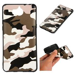 Camouflage Soft TPU Back Cover for Huawei Y5 (2017) - Black White