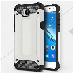 King Kong Armor Premium Shockproof Dual Layer Rugged Hard Cover for Huawei Y5 (2017) - White