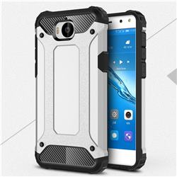 King Kong Armor Premium Shockproof Dual Layer Rugged Hard Cover for Huawei Y5 (2017) - Technology Silver